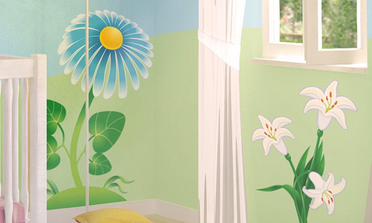 Stickers murali bambini cameretta nel mondo delle api - Decorazioni murali camerette ...